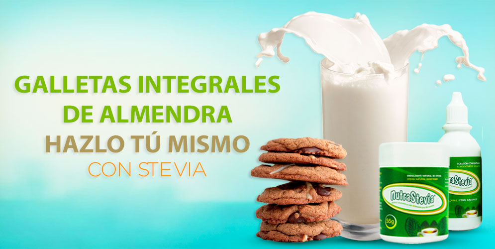 Galletas integrales de almendra con Stevia | NutraBlog